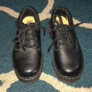 Skechers Black Boys Leather Oxford Size 13  #9703